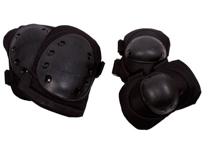 Tactical Crusader Knee and Elbow Pads, Black
