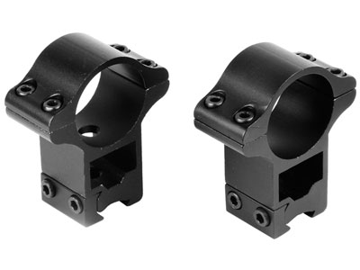 """Tech Force 1"""" Rings, High, 9.5-13mm Dovetail, See-Thru"""