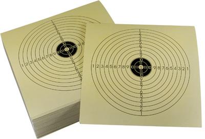 "Tech Force Paper Rifle Targets, Bullseye, 5.5""x5.5"", 100ct"