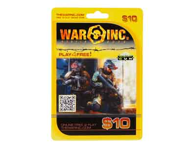 War Inc. Battle Zone $10 Cash Card