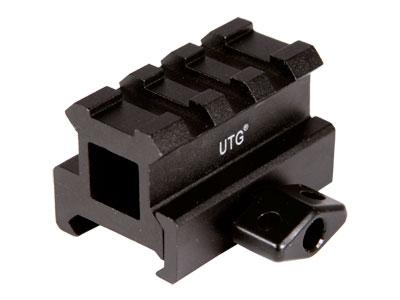 "UTG 3-Slot Medium-Profile Compact Riser Mount, 0.83"" High, Black"