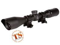 "UTG 3-9x40 TF2+ Rifle Scope, Mil-Dot Reticle, 1/4 MOA, 1"" Tube, See-Thru Weaver Rings"