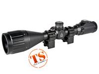 "Leapers UTG 3-9x50 AO True Hunter Rifle Scope, EZ-TAP, Illuminated Mil-Dot Reticle, 1/4 MOA, 1"" Tube, See-Thru Weaver Rings"