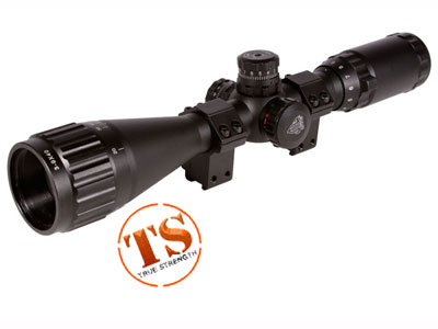 "Leapers UTG 3-9x40 AO Rifle Scope, Illuminated Mil-Dot Reticle, 1/4 MOA, 1"" Tube, 3/8"" Rings"