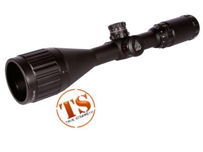 "UTG 3-9x50 AO Rifle Scope, Illuminated Mil-Dot Reticle, 1/4 MOA, 1"" Tube, 3/8"" High Rings"