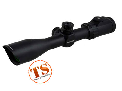Leapers UTG 1.5-6x44 Accushot Rifle Scope, EZ-TAP, Illuminated Mil-Dot Reticle, 1/4 MOA, 30mm Tube, Weaver Rings