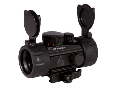 UTG 1×30 4 Compact ITA Red/Green Target Dot Sight, 1/2 MOA, Integral Quick-Detach Weaver/Picatinny Mount