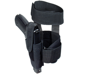 Concealed Ankle Holster, Fits Compact & Subcompact Pistols, Black