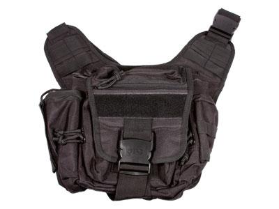 UTG Multifunctional Carry  Messenger Bag with Ambi Holster, Black