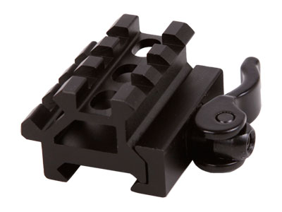 UTG Law Enforcement Rated Double Rail/3 Slot Weaver/Picatinny Angle Mount, Integral Quick-Detach Lever Lock System