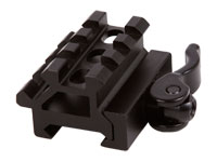 UTG Law Enforcement Rated Double Rail/3 Slot Weaver/Picatinny Angle Mount, Integral Quick-Detach Lever Lock System PY-A-4715