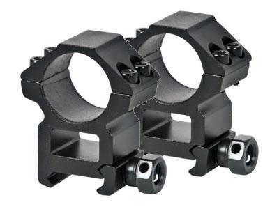 """UTG Leapers Premium 1"""" Rings, High, Weaver Mount, See-Thru"""