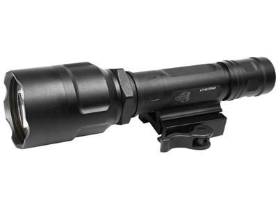 UTG Long Range Spot Focus LED Flashlight, Quick-Detach Integral Mounting Deck