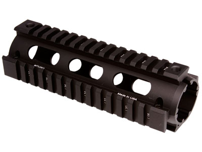 UTG PRO Model 4/15 Carbine Length Quad Rail System, Black