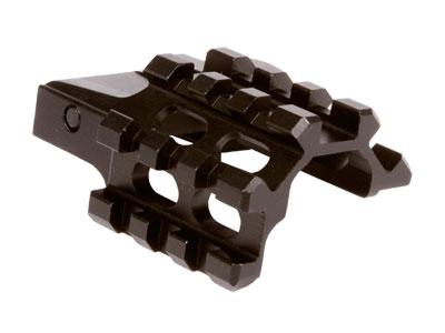 UTG Weaver/Picatinny Quad Rail, 3 Slot Angle Mount, Integral Quick-Detach Lever Lock System