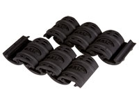 UTG Rubber Rail Guard With Flexible Adjustment, 12ct, Black