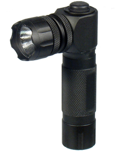 Tactical LED Flashlight, 150 Lumens, Handheld, Right-angle Head, Lanyard & Batteries