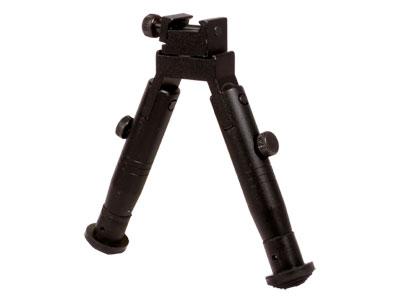 "UTG Universal Shooter's Bipod, 4"" Legs, Fixed Height, Posi-Lock, Panning, Picatinny & Swivel Stud Mounts"