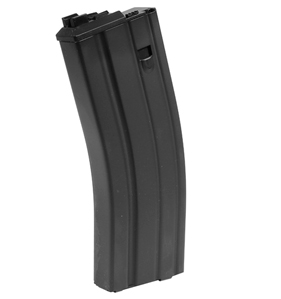 WE Green Gas Rifle Magazine, Fits PDW Open Bolt Rifles, Black, 30rds