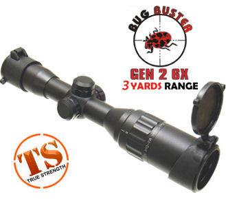 "UTG 5th Gen 6x32AO Bug Buster Rifle Scope, Gen 2, Illuminated Mil-Dot Reticle, 1/4 MOA, 1"" Tube"