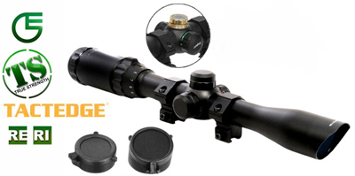 "Leapers 5th Gen 3-9x32 Rifle Scope, Illuminated Mil-Dot Reticle, 1/4 MOA, 1"" Tube, 11mm Dovetail Rings"