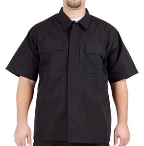 5.11 Tactical TDU Short Sleeve Shirt, Ripstop, Black, Large