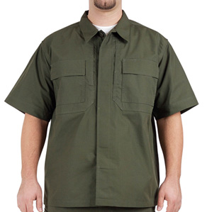 5.11 Tactical TDU Short Sleeve Shirt, Ripstop, Green, XL