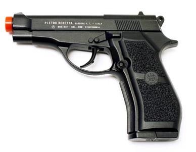 Beretta M84 6mm Co2 Metal Pistol, Black