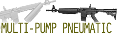Multi-pump pneumatic air rifles