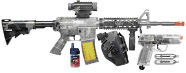 Crosman Clear Airsoft R70 Rifle, P50 Pistol Kit