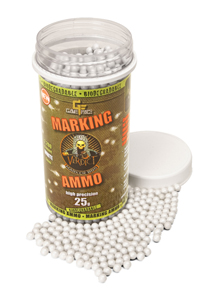 Game Face Verdict 6mm Biodegradable Marking Airsoft BBs, 0.25g, 2200 rds, White