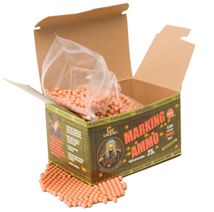 Game Face Verdict 6mm Biodegradable Marking Airsoft BBs, 0.25g, 5000 rds, Orange