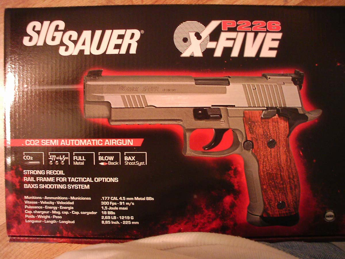 Customer images for SIG Sauer P226 X-Five .177 CO2 Pistol, Silver/Wood Grips | Pyramyd Air