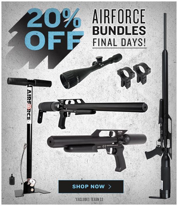 Final Days for 20% Off AirForce Air Gun Bundles
