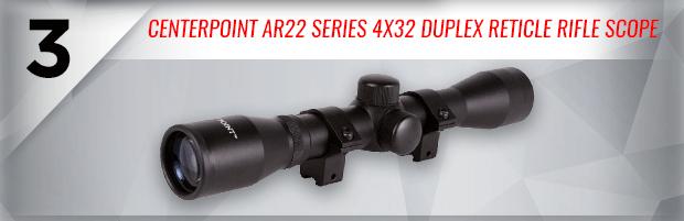 CenterPoint AR22 Series 4x32 Duplex Reticle Rifle Scope