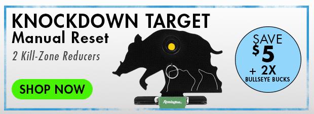 Remington Knockdown Target, Wild Hog, Manual Reset