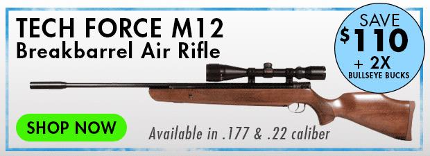 Tech Force M12 Air Rifle Combo, 4-12x40 AO