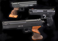 TARGET PISTOLS AND TARGET SHOOTERS