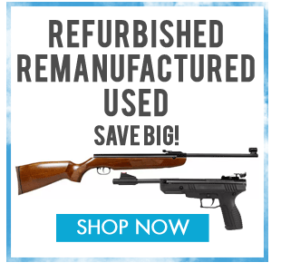 Refurbished, remanufactured, used airguns and airsoft guns