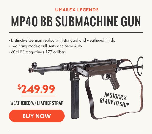 Umarex Legends MP40 BB Submachinegun Weathered w/ Leather Strap