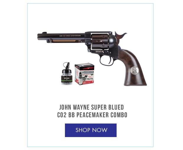 John Wayne Super Blued CO2 BB Peacemaker Combo