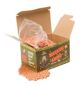 Game Face Verdict 6mm Biodegradable Marking Airsoft BBs, 0.20g, 5000 rds, Orange