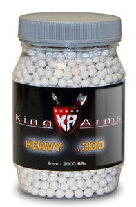 King Arms 6mm airsoft BBs, 0.30g, 2,000 rds, white