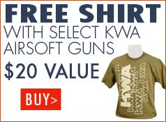 Free Shirt with select KWA airsoft guns - $20 Value
