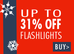Up to 31% off select flashlights