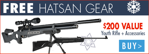 Free Hatsan Gear worth $200 with purchase