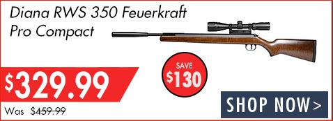Save $130 on Diana RWS 350 Feuerkraft Pro Compact
