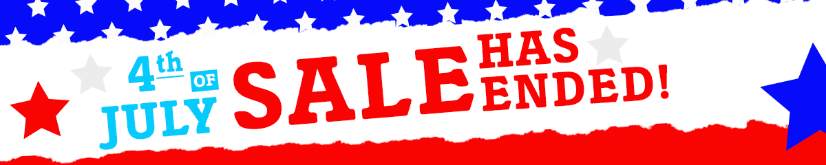 4th of July Savings Sale has ended, but don't worry! We still have great deals available!