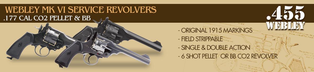Webley MKVI Topbreak CO2 Pellet & BB Revolvers