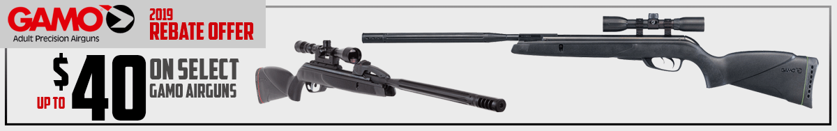 Rebates up to $40 on these hard hitting air rifles from Gamo!